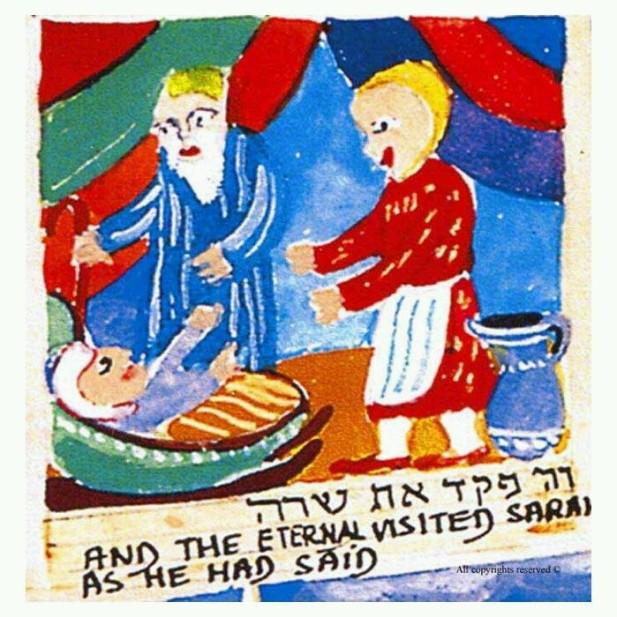 Abraham and Sarah with Isaac