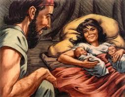 Rebekah gives birth